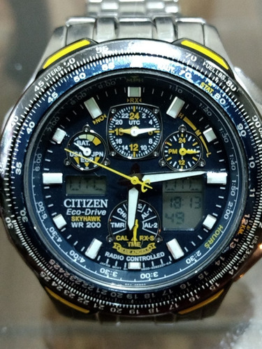 29439099216 Relogio Citizen Eco-drive Blue Angels Skyhawk Jy 004059l - R  2.100 ...