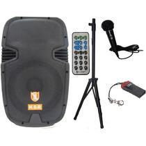 Bafle Bocinatriamplificado Con Tripie Mic Ctrl Usb Bluetooth