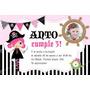 Kit Imprimible Piratas Nena Decoración Invitación Candy Bar