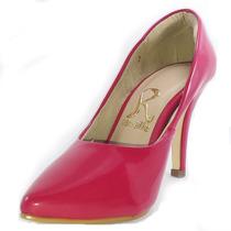 Sapato Feminino Salto Alto 10 Cm Scarpin Vermelho - Peça Já