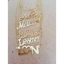 Nombre Personalizado Oro Laminado 22k Collar Joyeria Regalo