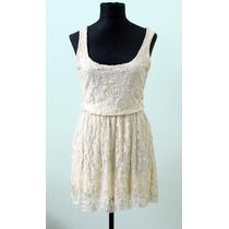 Elegante Vestido Crema Rosh Authentic - Envios