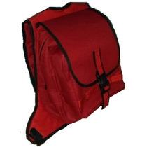 Mochila Roja, Ajustable, Mantén Secos Y Seguros Los Cuaderno