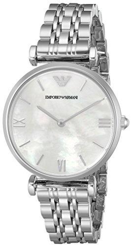 3935e52cb45f Reloj De Plata Retro Ar1682 De Las Mujeres De Emporio Arman ...