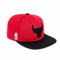 Gorra Vicera Snapback Adidas Chicago Bulls Basquet Nba