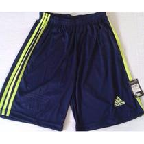 Bermuda Adidas Shorts Calção Treino Corrida Futebol Esporte.