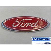 Emblema Ford Grade * Vermelho Cromado* Escort/ Del Rey