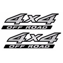 Par Emblema Adesivo 4x4 Off Road Frontier - Aço Escovado