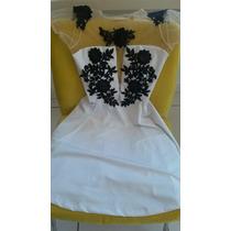 Lindo Vestido Com Renda Guipir E Transparencia (reveillon)