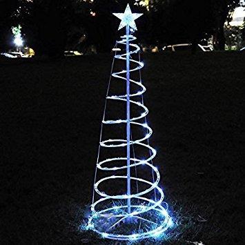 rbol de navidad 5 pies led claro espiral con luz del rbol - Arbol De Navidad