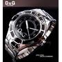 Relógio Masculino Dolce Gabbana D&g Preto Prata Original Dg