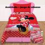 Acolchado + Sabanas Minnie Piñata Disney 1 1/2 Reversible