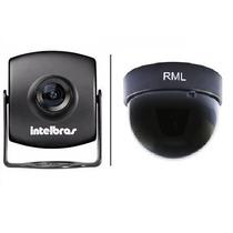 Mini Câmera Intelbras Vm 220 Day & Night Color + Dome 3 Pt