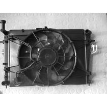 Kit Conjunto Radiador Condensador Ventoinha Hyundai Tucson