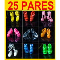 Kit Com 25 Pares De Sapatos Para Boneca Barbie * Sapatinho