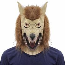 Decoraciones Traje De Miedo La Máscara De La Cabeza Del Lobo