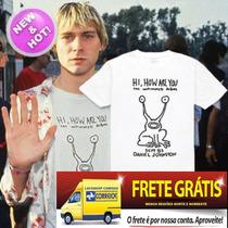 Camiseta Kurt Cobain - Camisa Banda Nirvana Rock Album Shirt