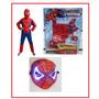 Kit Completo Homem Aranha , Masca De Led, Luvas Com Lançador