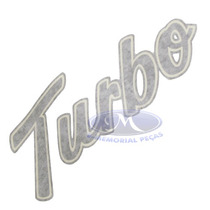 Emblema Turbo Cinza Grafite Original F-14000 1998 A 2005