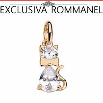 Rommanel Pingente Feminino Gato Com Zirconias 541469