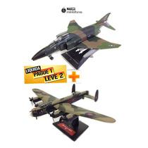 Coleção Avião Bombardeiro + Jato De Combate Promoção Barato