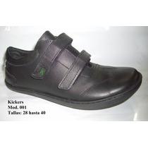 Zapatos Kickers Colegiales Cuero 3 Modelos 28 A La 40