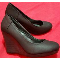 Zapatos Aziz Ripley Taco Cuña Talla 351/2 Negro Una Puesta