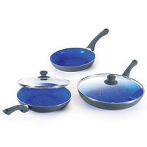 Set 3 Sartenes Ceramicas Ceramic Pan Originales + 2 Tapas