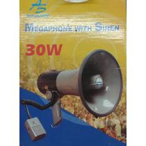 Megafono 30w Con Sirena American Sound Importado