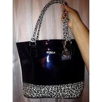 Cartera Furla Animal Print Original Con Llavero