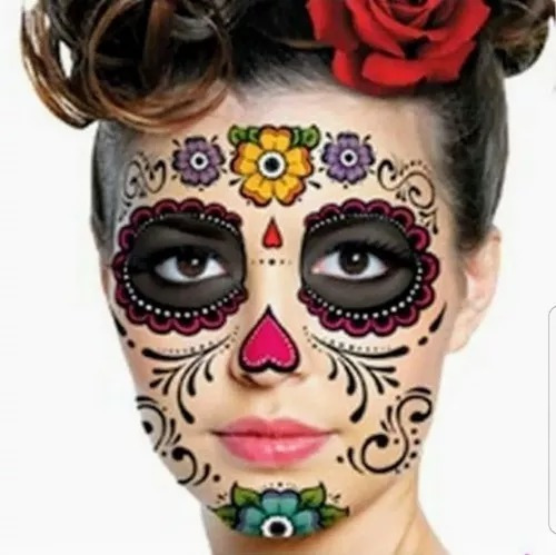 Tatuaje Catrina Dia De Muertos Halloween Tatto 13500 En Mercado