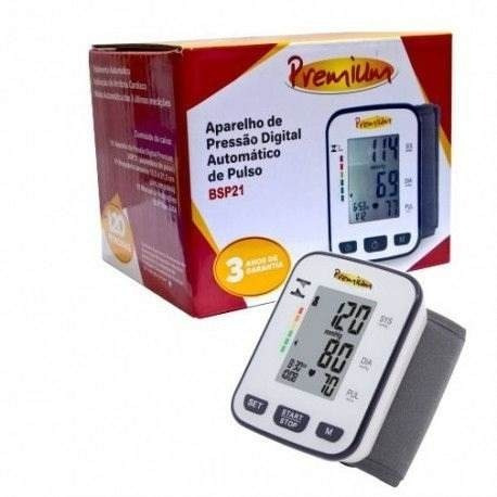 717c6602f Aparelho De Pressão Digital Premium Automático Pulso Bsp21 - R  113 ...