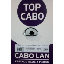Cabo De Rede Top Cabo Cat5e Preto Caixa 305mts!!!!