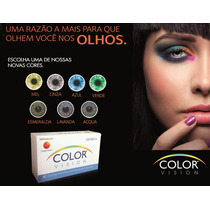 Lente Contato Colorida Color Vision Coopervision Nf E Estojo