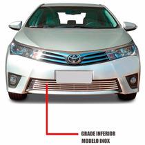 Sobre Grade Corolla 2015 A 2016 Aco Inox Flat 1 Pc