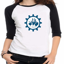 Camiseta Raglan Curso Engenharia Química - Feminino