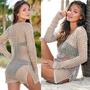 Sexy Vestido Mujer Estilo Crochet Ideal Para Playa Verano 2