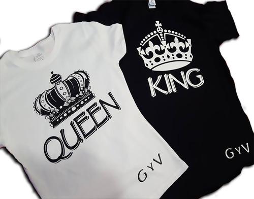 Playeras Queen Y King Parejas 14 De Febrero -   454.00 en Mercado Libre 68315504782c7