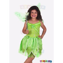 Fantasia Fada Tinker Bell Vestido Sininho Tinkerbell Com Asa