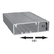 Canaleta Aluminio 2 Vias A141 60 Cables Envío Gratis 2.5m