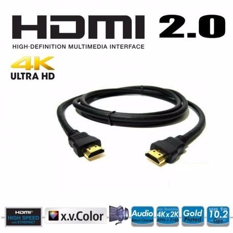 Paquete de 2 cables hdmi 2 0 high speed 4k ethernet 8 - Cable ethernet 20 metros ...