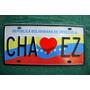 Placa Corazon Chavez Reflectiva Alto Relieve