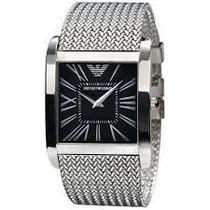 Relógio Emporio Armani Ar2012 Slim Prata/ Preto Completo