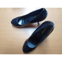 Zapato Mujer Talla 40 Marca Marquis Charol Negro