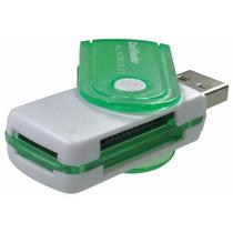 Leitor Adptador Usb Gravador De Cartão De Memória Sd Micro