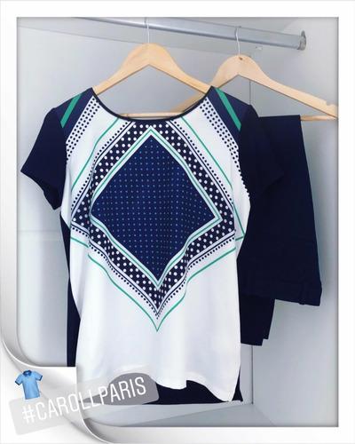 2 Pçs - T-shirt Caroll Paris   Calça Alfaiataria Zara Paris - R  298 ... 6038998b167