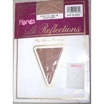 Par Medias Panty Hanes Silk Reflection Color Piel Talla S-m