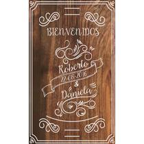 Cartel Para Boda Vintage Bienvenidos Personalizado 30*48cm