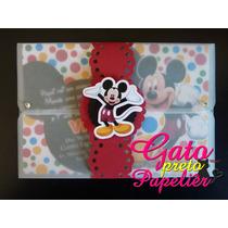 35 Convite Minnie, Mickey, Carros *fazemos Outros Temas*