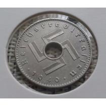 Moeda Alemanha 10 Reichspfennig Raríssima Perfeita Suas-tica